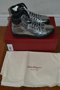 NIB $660 Salvatorre Ferragamo Stephen 2 Patent Leather Sneakers - Sz 7.5 EE