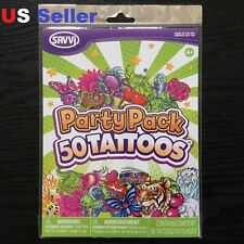 SAVVI 50 Temporary Tattoos Party Pack / Birthday party Made in USA New #12