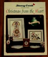 New Christmas from the Heart Stoney Creek Cross Stitch Book 136 Angel Santa ETC.
