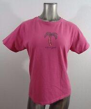 Life is Good Palm Tree women's t-shirt dark rose M