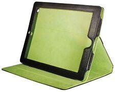Schutz Hülle Case Tasche Schale Etui für iPad 2 3 4 Schwarz Kunst Leder
