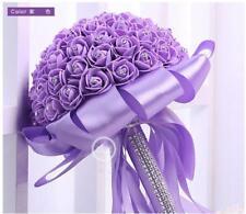Handmade Bride Hand Holding Flowers Artificial Bouquet Wedding Supplies 6 Colors