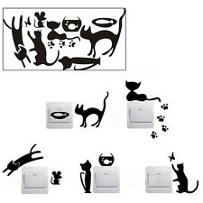 Fashion DIY Cat Funny Light Switch Wall Stickers Decal Home Window Decoration