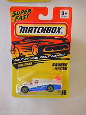 1993 MATCHBOX SAUBER RACER MIP BOYS & GIRLS 1:64, 3+, Diecast # 66