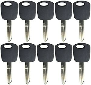 Lot of 10 Transponder Chip Ignition Pats Key Uncut H72 For Ford Lincoln Mercury