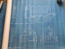 Vintage Blueprints For Model Of Stephenson's Planet Class Steam Locomotive