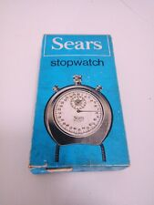 Vintage Sears 19921 Red Stopwatch Shock Resistant Swiss Made 1/5 th Original Box