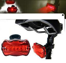 Luz trasera para bicicleta bici 5 led linterna iluminación luz fija luz parpadeo