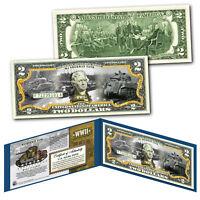 M4 SHERMAN TANK World War II Official Genuine Legal Tender U.S. $2 Bill - WWII