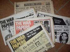 FOUR WORLD  WAR TWO PAPERS (REPRINTS ) ONE (1942) DAILY MAIL ONE PRICE