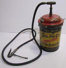 Vtg Central Petroleum Cen-Pe-Co Cleveland 50lb Oil Grease Can Bucket Pump Garage