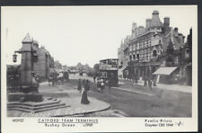 London Postcard - Catford Tram Terminus, Rushey Green c1909 - BH5797