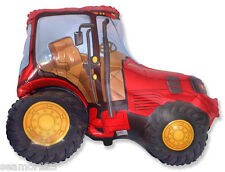 """1 x Red Tractor   Helium Foil Balloon Supershape 30"""" x 37"""" 76cm x 94cm"""