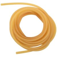 Natural Latex Rubber Band Tube Elastic 2x5mm Yellow size:5M E3K5