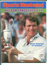 Tom Watson Signed 1983 Sports Illustrated British Open Autographed Golf PSA/DNA