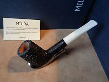PFEIFE PIPE MIURA CAMINO RUSTIC BALCK WHITE STEM  9MM  HAND MADE ITALY 24M92