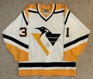 Autographed Ken Wregget Pittsburgh Penguins Hockey Jersey Classic CCM NHL