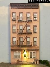 """*O Scale Scratch Built """"APARTMENT #2"""" w/LED Building Front Flat MTH Lionel NEW!"""