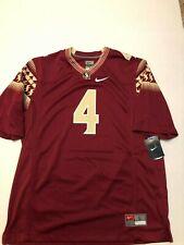 Florida State Siminoles Nike Football Jersey #4 - Size L  NWT Men's Maroon