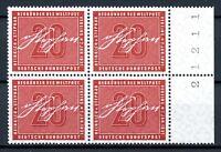 Bund 4er Block MiNr. 227 Bogenrand rechts postfrisch MNH (O5680