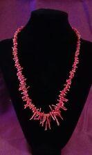Echte Korallen Schmuck Kette Damen Halskette Astkoralle k. Gold Weihnachten