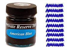 PRIVATE RESERVE - Fountain Pen Ink Bottle - AMERICAN BLUE -  66ml - New