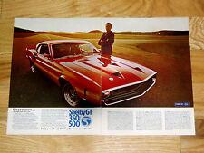1969 FORD MUSTANG SHELBY GT 500/350 ORIGINAL AD-Cobra/302/390/428/429/v8 engine