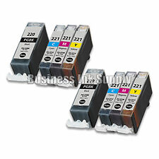 8 PACK PGI-220 CLI-221 Ink Tank for Canon Printer Pixma iP3600 iP4600 NEW