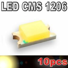 111/10# LED CMS 1206 blanc chaud - 500mcd - 10pcs