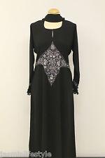 Mujer Lentejuelas Pedrería Bordado Con Cuentas Diseñador Jilbāb Boda Abaya Hijab