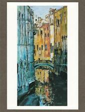 Reflections in Venice. Isla Willat Hove unused  postcard    n.87