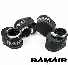 Ramair Gran Caudal MOTO Rendimiento Cubierta De Espuma Filtro aire Set 4 - 55mm