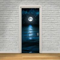 Moon and Stars Door Wall Stickers DIY Mural Bedroom Home Decor Poster PVC
