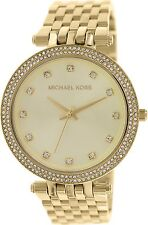 NEW Authentic Michael Kors Gold Stainless Steel Rhinestone Ladies Watch MK 3216