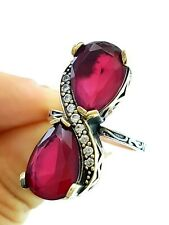 TURKISH OTTOMAN COCKTAIL FASHION JEWELRY ANTIQUE SILVER RING GIFT FOR MOM R1311