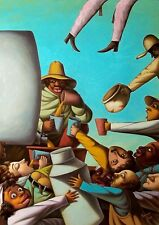 Original Art Painting Oil Canvas Santiago Cuba artist YORDANIS LOPEZ ACOSTA