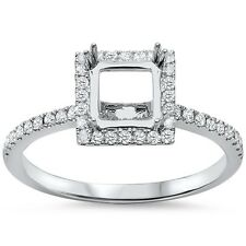 .29cts F VS2 Princess Cut Diamond Semi Mount Engagement Ring Size 6.5