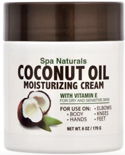 COCONUT OIL MOISTURIZING CREAM Spa Naturals(6 oz.) Vitamin E for Dry Skin