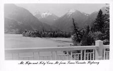RPPC Mt. Hope & Holy Cross Mt. from Trans-Canada Highway Postcard ca 1940s