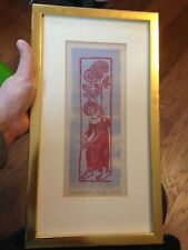 "FRAMED SIGNED HELEN SIEGL BEAUTIFUL ""MARGARETE"" PICTURE WITH FREE SHIPPING"