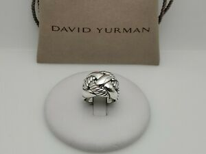 David Yurman Woven Cable 925 Sterling Silver Wide Band Ring Size 7.5
