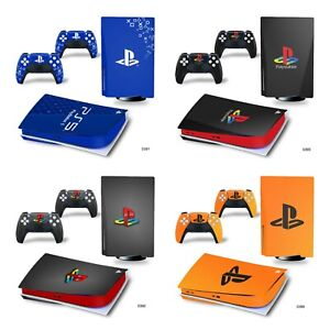 New PS Style PS5 Skin Decal Vinyl Wrap Sticker for Disc and Digital Version
