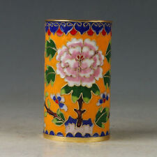 Chinese Exquisite Cloisonne Hand-made Flowers Brush Pots NR