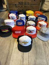 Vintage Trucker Hat Cap SnapBack Lot Racing Chevy Coke Oil John Deere