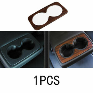 ABS Wood Grain Rear Water Cup Panel Cover Trim For Cadillac XT5 2016-2019 2020