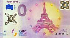 BILLET BILLET POLYMERE TOUR EIFFEL PARIS FRANCE 2017 N° 1492