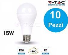 10 LAMPADINE LED E27 15W V-TAC VT-2015 LAMPADINA LAMPADA  FREDDA