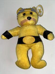 CELEBRITY BEAR Star #07 HULK HOGAN Hollywood Wrestler BEAN BAG PLUSH Toy MWMT