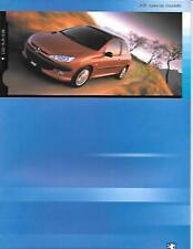PEUGEOT 206 AUTO SALES BROCHURE DICEMBRE 2000 per 2001 ANNO del modello