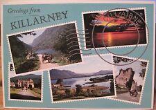 Irish Postcard KILLARNEY Multiview Ireland John Hinde Studios 2/664 1992 to USA